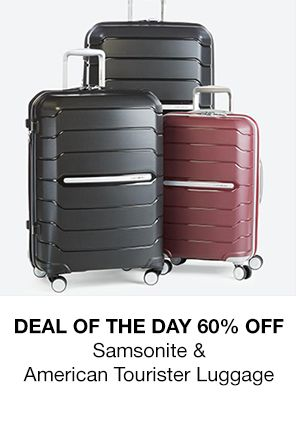 Deal of the Day 60 Percent Off Samsonite and America Tourister Luggage