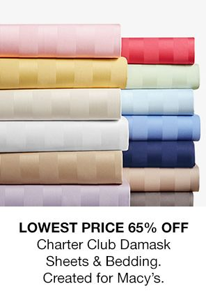 Lowest Price 65 percent Off Charter Club Damask Sheets and Bedding, Created for Macy's