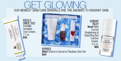 Get Glowing, Our Newest Skin Care Arrivals are the Answer to Radiant Skin, Kiehl's Since 1851, Korres, Sunday Riley