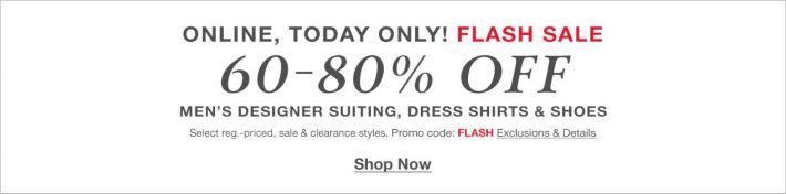 97918a576692fb Flash Sale, 60-80 percent Off, Men's Designer