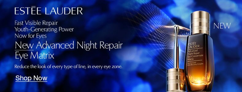 Estee Lauder, Fast Visible Repair Youth-Generating Power Now for Eyes, New Advanced Night Repair Eye Matrix, Reduce the look of every type of line, in every eye zone, Shop Now
