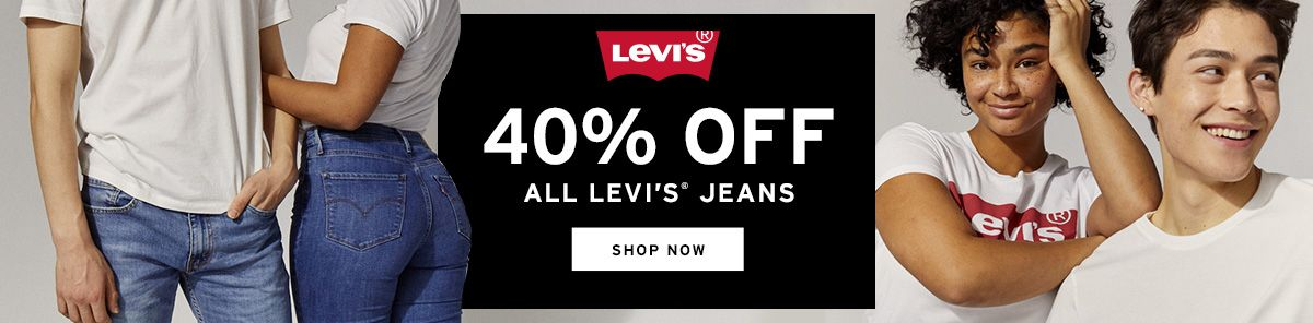 40% Off All Levi's Jeans