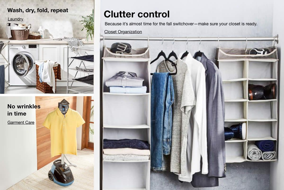 Wash, dry, fold, repeat, No wrinkles in time, Clutter control