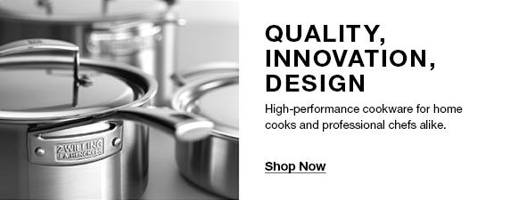 Quality, Innovation, Design, High-performance cookware for home cooks and professional chefs alike, Shop Now