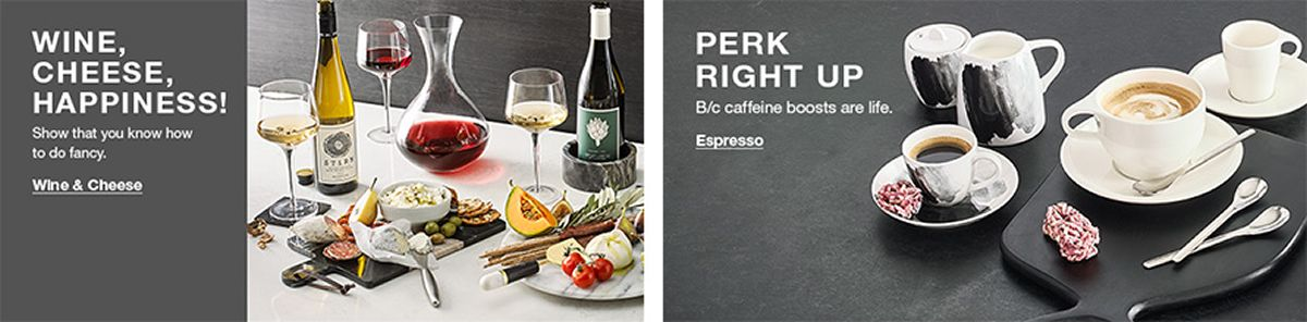 Wine, Cheese, Happiness, Show that you know how to do fancy, Wine and Cheese, Perk, Right Up, B/c caffeine boosts are life, Espresso