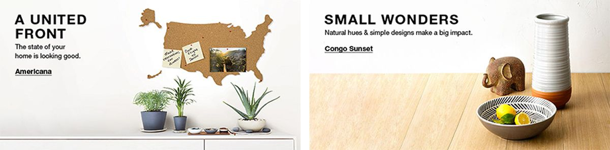 A United Front, The state of your home is looking good, Americana, Small Wonders, Natural hues and simple designs make a big impact, Congo Sunset