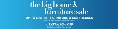 The Big Home And Furniture Sale, Up To 60 Percent Off Furniture And  Mattresses,