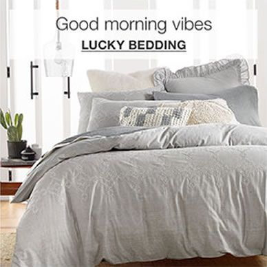 Good morning vibes, Lucky Bedding