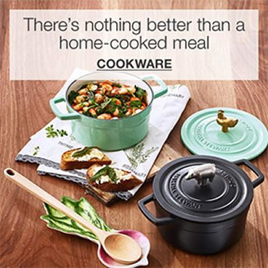 There's nothing better than a home-cooked meal, Cookware