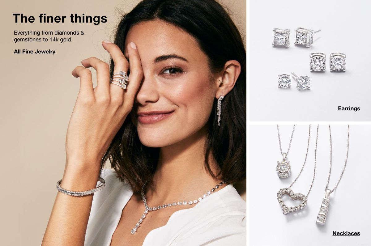 The finer things, Everything from diamond and gemstone to 14k gold, All Fine Jewelry, Earrings, Necklaces