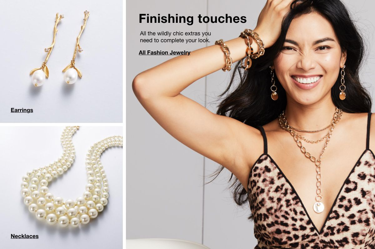 Earrings, Necklaces, Finishing touches, all the wildly chic extras you need to complete your look, All Fashion Jewelry