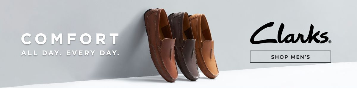 Comfort, All Day, Every Day, Clarks, Shop Men's