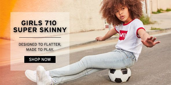 Girls 710 Super Skinny, Designed to Flatter, Made to Play, Shop Now