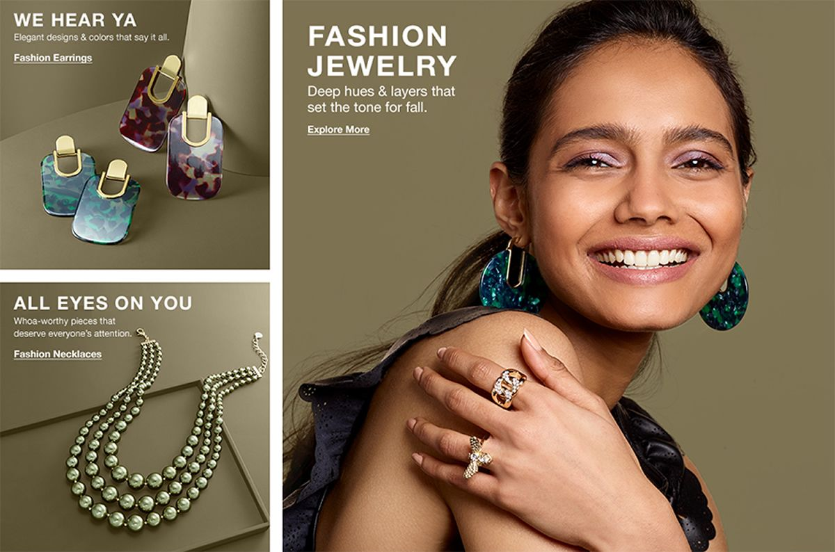 We Hear Ya, Elegant designs and colors that say it all, Fashion Earrings, All Eyes on You, Whoa-worthy pieces that deserve everyone's attention, Fashion Necklaces, Fashion Jewelry, Explore More