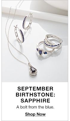 September Birthstone: Sapphire, A bolt from the blue, Shop Now