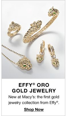Effy Oro Gold Jewelry, New at Macy's: the first gold jewelry collection from Effy, Shop Now