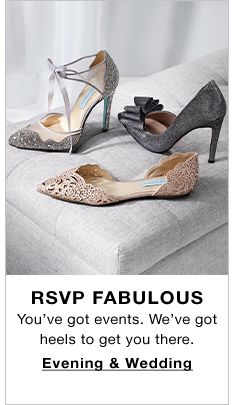 RSVP Fabulous, You've got events, We've got heels to get you there, Evening and Wedding