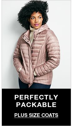 Perfectly Packable, Plus Size Coats