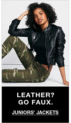 Leather? go Faux, Juniors Jackets