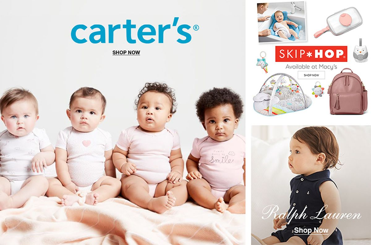 Carter's, Shop Now, Skip Hop, Available at Macy's, Shop Now, Ralph Lauren, Shop Now