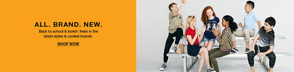 All, Brand, New, Back to school and lookin fresh in the latest styles and coolest brands, Shop Now
