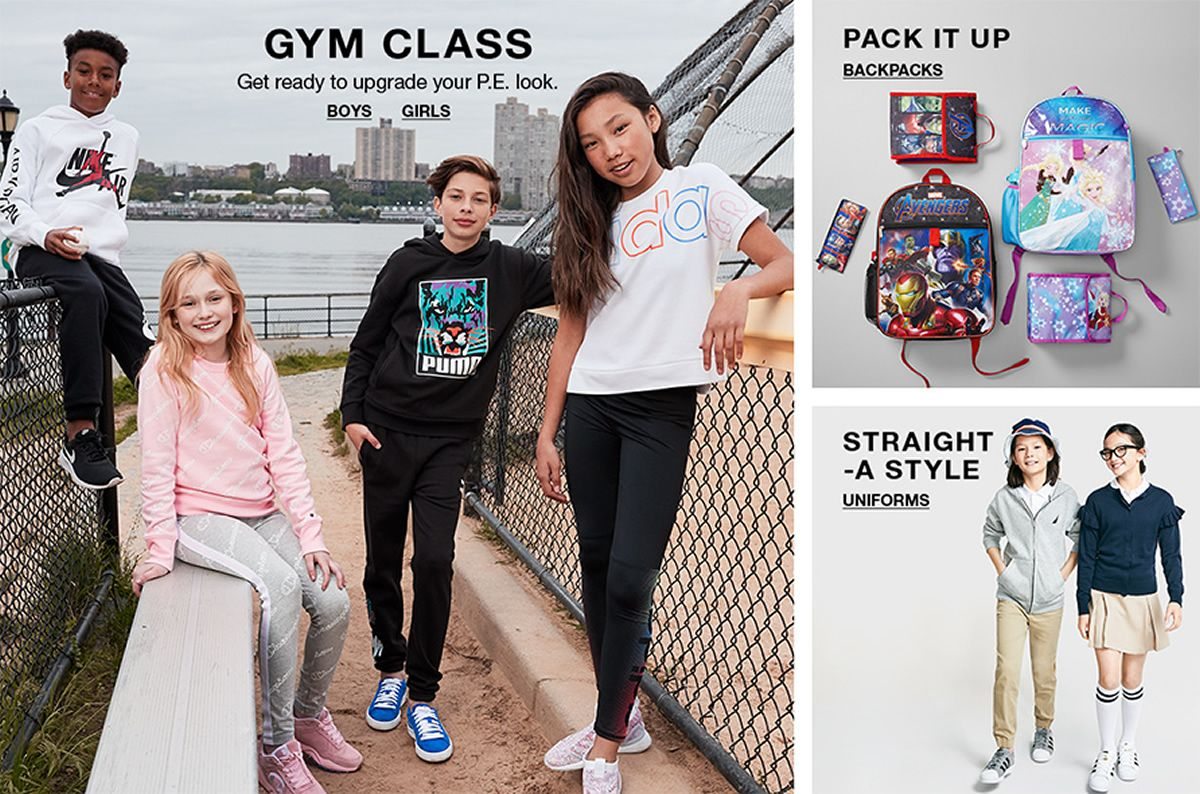 Gym Class, Boys, Girls, Pack it up, Backpacks, Straight a style Uniforms