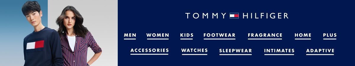 Tommy Hilfiger, Men, Women, Kids, Footwear, Fragrance, Home, Plus, Accessories, Watches, Sleepwear, Intimates, Adaptive