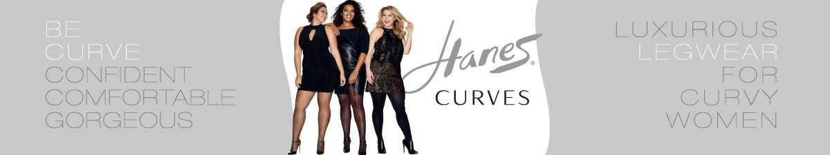 Hanes Curves, Be Curve, Confident Comfortable Gorgeous, Luxurious Legwear For Curvy Women