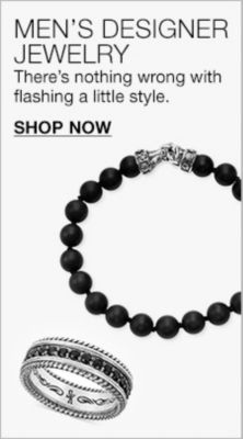 Men's Desginer Jewelry, There's nothing wrong with flashing a little style, Shop Now