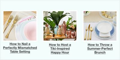 How to Nail a Perfectly Mismatched Table Setting, How to Host a Tiki-Inspired Happy Hour, How to Throw a Summer-Perfect Brunch