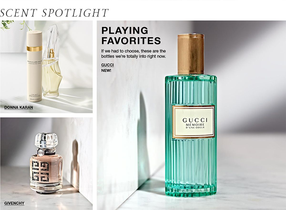 Scent Spotlight, Donna Karan, Givenchy, Playing Favorites, If we had to choose, these are the bottles we're totally into right now, Gucci, New!
