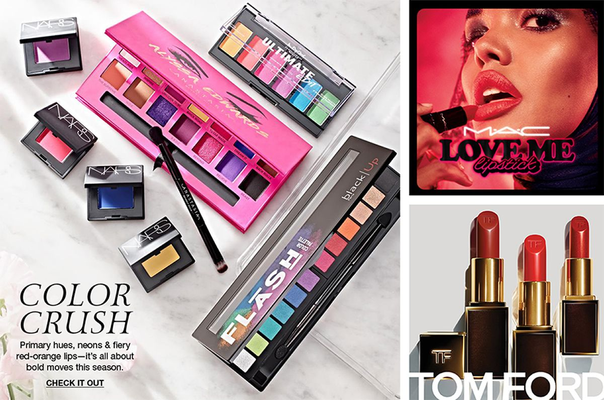 Color Crush, Primary hues, neons and fiery red-orange lips-it's all about bold moves this season, Check it Out, Mac, Love Me, Lipstick, Tom Ford