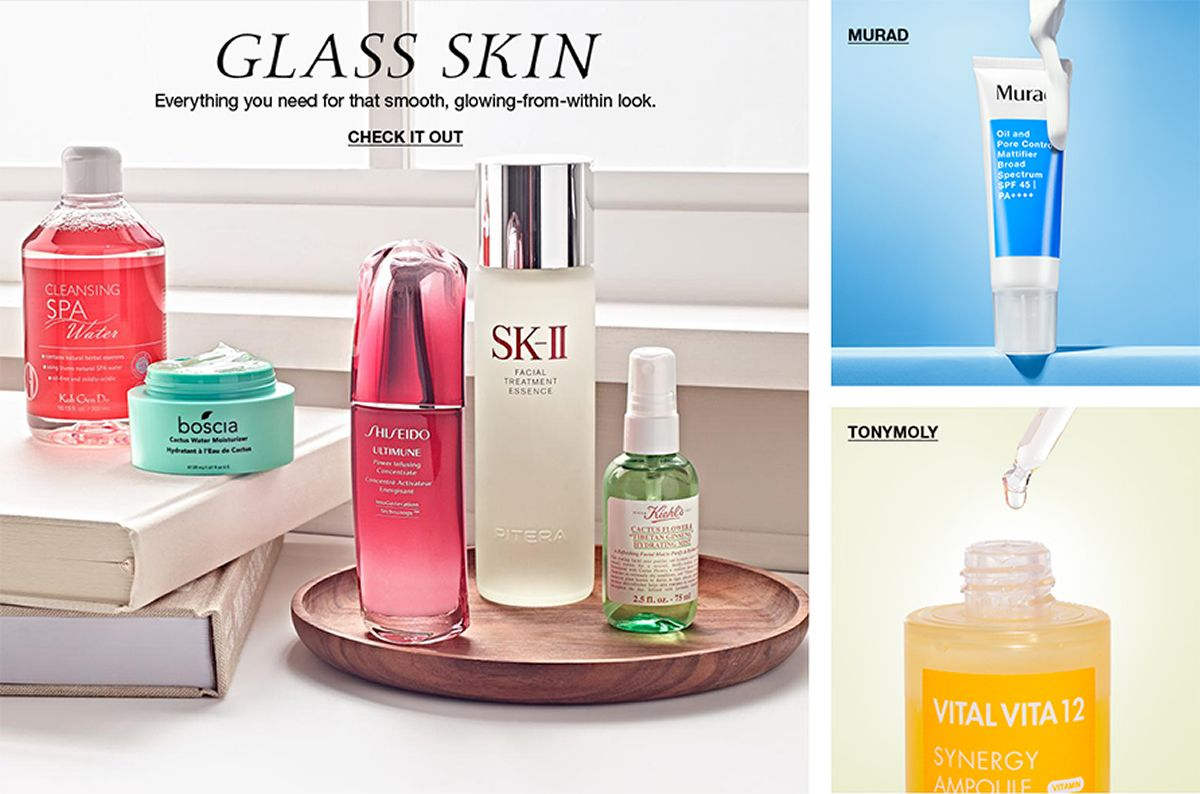 Glass Skin, Everything you need for that smooth, glowing-from-within look, Check it Out, Murad, Tonymoly