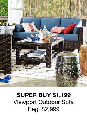 Super Buy $1,199, Viewport Outdoor Sofa, Reg. $2,999