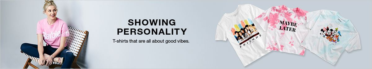 Showing Personality, T-shirts that are all about good vibes