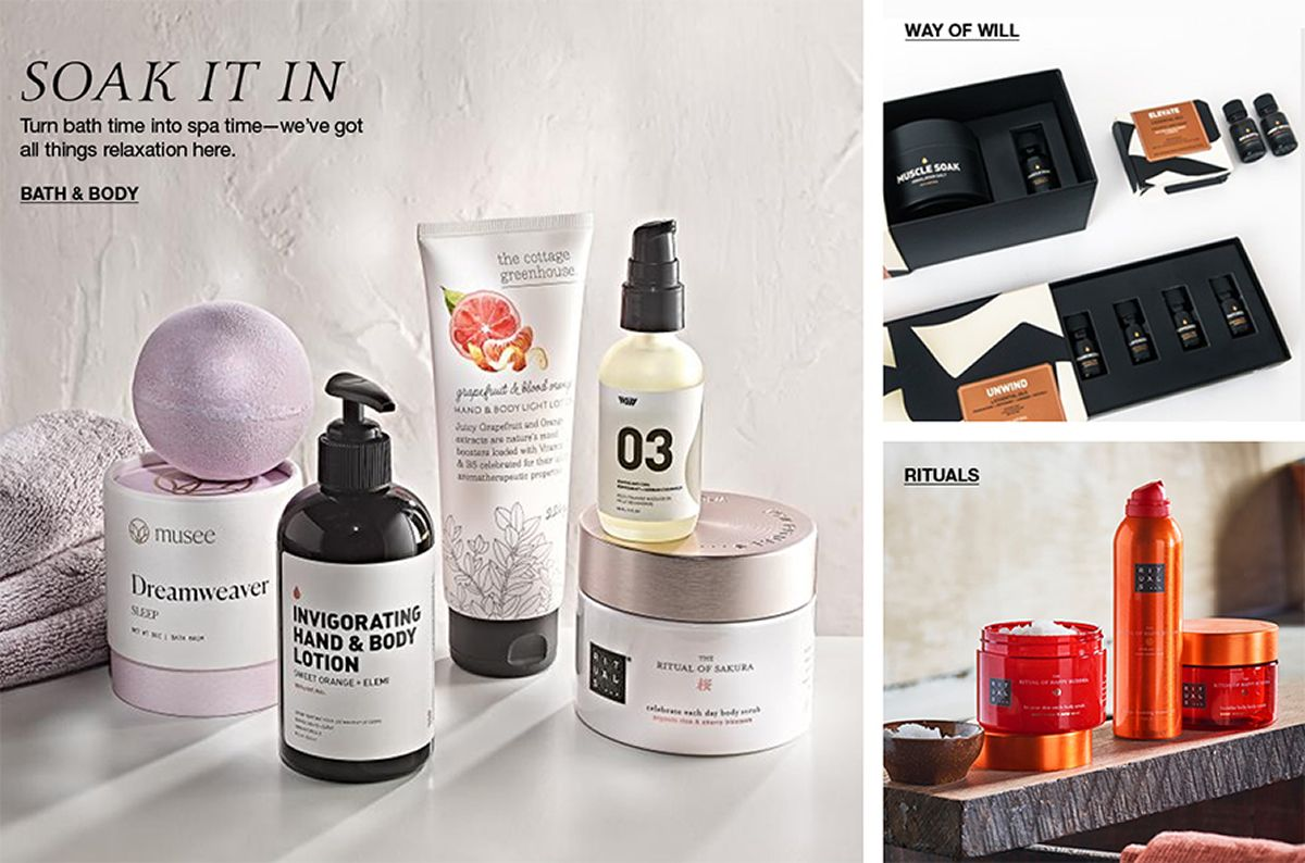 Soak it in, Turn bath time into spa time-we've got all things relaxation here, Bath and Body, Way of Will, Rituals