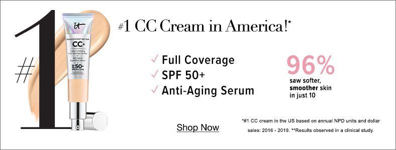 1 CC Cream in America!, Full Coverage, Spf 50 + Anti-Aging Serum, Shop Now