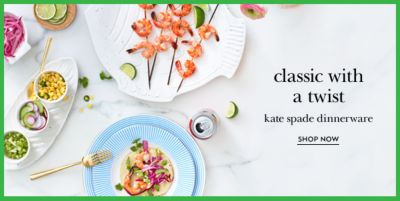 Classic with a twist, Kate spade dinnerware, Shop Now