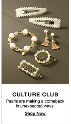 Culture Club, Pearls are making a comeback in unexpected ways, Shop Now