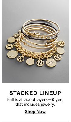 Stacked Lineup, Fall is all about layers-and yes, that includes jewelry, Shop Now