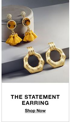 The Statement Earring, Shop Now