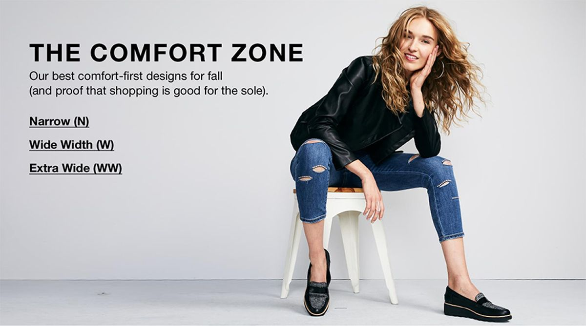The Comfort Zone, Our best comfort-first designs for fall, Narrow (N), Wide Width (W), Extra Wide (WW)