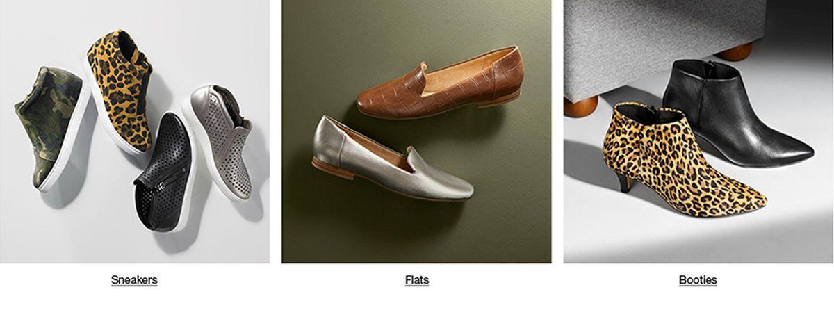Sneakers, Flats, Booties