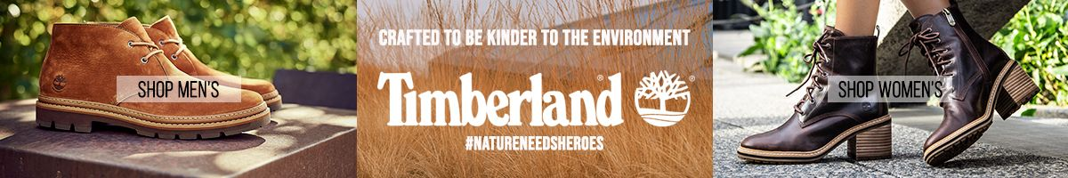 Crafted to be Kinder to The Environment, Timberland, Natureneedsheroes