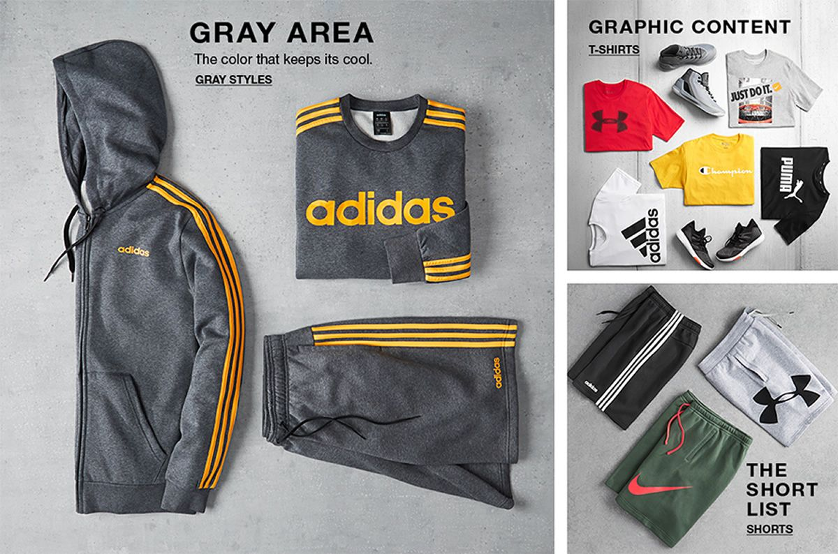 Gray Area, Gray Styles, Graphic Content, T-Shirts, The Short List, Shorts