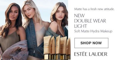 New Double Wear Light Soft Matte Hydra Makeup, Shop Now, Estee Lauder