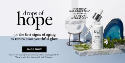 Drops of hope for the first signs of aging to renew your youthful glow, Shop Now