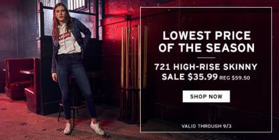 Lowest Price of The Season, 721 High-Rise Skinny Sale $35.99, Shop Now