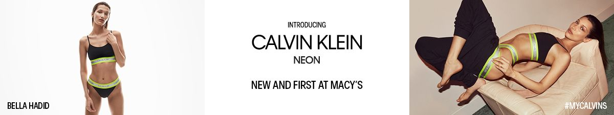 Bella Hass, Introducing Calvin Klein Neon, New and First at Macys