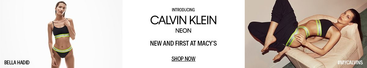 Bella Hass Introducing Calvin Klein Neon, New and First at Macys, Shop Now